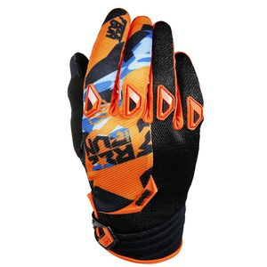 Gants cross DEVO HONOR ORANGE BLEU  2017 Orange/Bleu