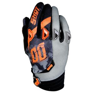 Gants cross DEVO SQUAD GRIS NEON ORANGE  2017 Gris/orange