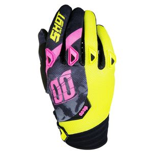 Gants cross DEVO SQUAD LIME NEON ROSE 2017 Jaune/Rose