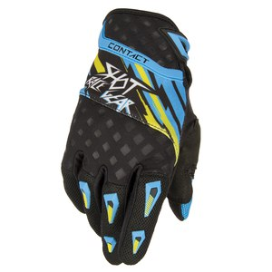 Gants cross CONTACT RAID GLOVES  2015 Bleu/Vert
