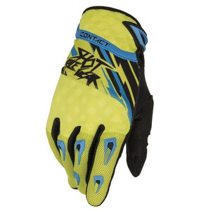 Gants cross CONTACT RAID GLOVES  2015 Jaune/bleu