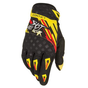 Gants cross CONTACT RAID GLOVES  2015 Jaune/Rouge