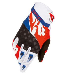 Gants cross CONTACT US GLOVE ROUGE BLEU  Rouge/bleu