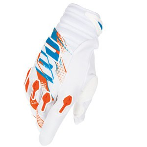 Gants cross DEVO CAPTURE GLOVE BLANC ORANGE   Blanc/Orange