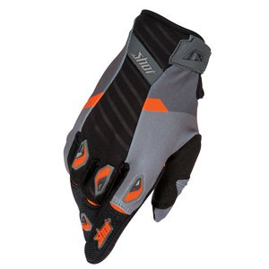 Gants cross FLEXOR SYSTEM GLOVE GRIS ORANGE   Gris/orange