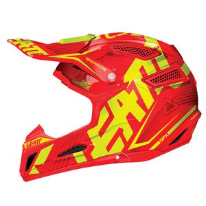 Casque cross GPX 5.5 COMPOSITE JR - ROUGE/JAUNE   Rouge/Jaune