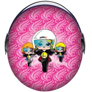Casque G1.1 - ARTWORK - LADY BIKER  Multi