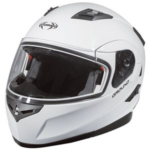 Casque GROUND UNI BRILLANT  Blanc brillant