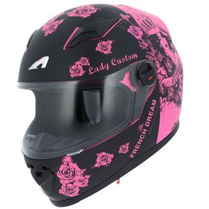 Casque GT2 GRAPHIC LADY CUSTOM  Noir/Rose