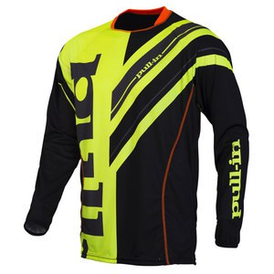 Maillot Cross Pull-in Destockage Frenchy - Jaune Fluo/noir 2016