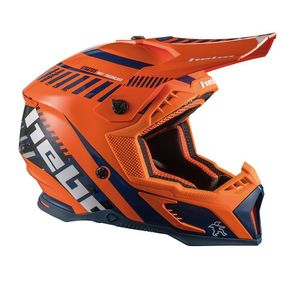 Casque cross STRATOS ORANGE 2020 Orange
