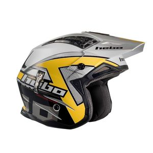 Casque trial ZONE 4 KONTROX YELLOW 2019 Jaune