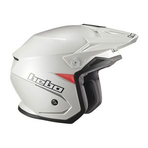 Casque trial ZONE 5 MONOCOLOR WHITE 2019 Blanc