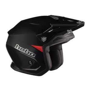 Casque trial ZONE 5 MONOCOLOR BLACK 2019 Noir