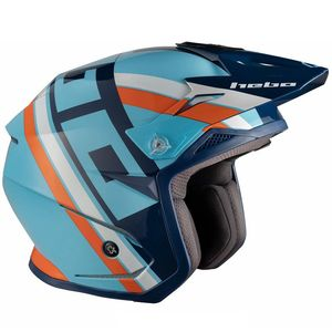 Casque trial ZONE 5 T-NINE BLUE 2019 Bleu