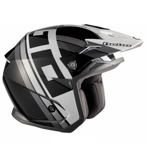 Casque trial ZONE 5 T-NINE BLACK 2019 Noir