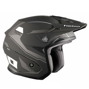 Casque trial ZONE 5 PURSUIT BLACK 2019 Noir