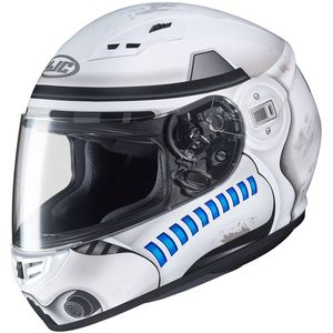 Casque CS-15 - STAR WARS - STORM TROOPER  Blanc/Bleu