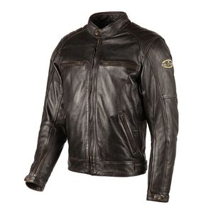 Blouson TRACK - cuir OLDIES  Marron