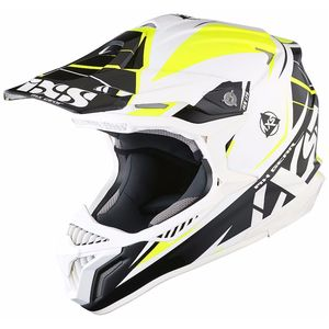 Casque cross HX179 FLASH - blanc noir jaune 2017 Blanc/Noir/Jaune