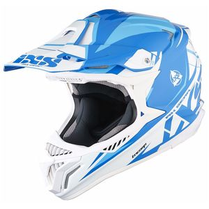 Casque cross HX179 FLASH - bleu blanc 2017 Bleu/Blanc