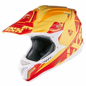 Casque cross HX179 FLASH - jaune orange rouge 2017 Jaune/Orange/Rouge