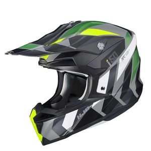 Casque cross I50 - VANISH - BLACK YELLOW GREEN MC4HSF 2021 MC4HSF