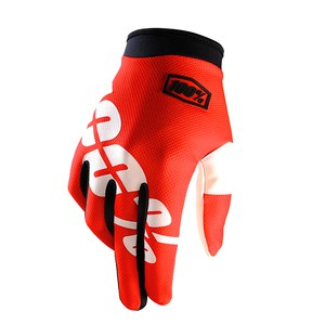Gants cross ITRACK - FIRE ROUGE -  2018 Rouge