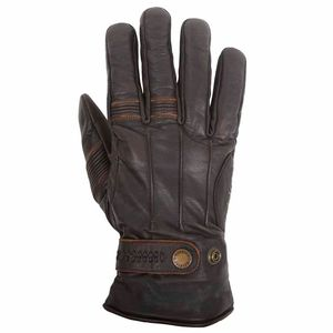 Gants BROD - cuir PULL-UP  Marron/Noir