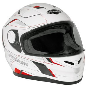 Casque INDUS - SPEED  Blanc/Rouge