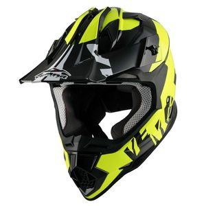 Casque cross Taku invasion 2017 Black/Yellow fluo