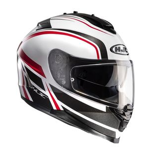 Casque IS 17 - CYNAPSE  Noir/Blanc/Rouge