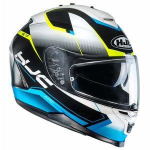 Casque IS 17 - LOKTAR  Blanc/Bleu/Jaune