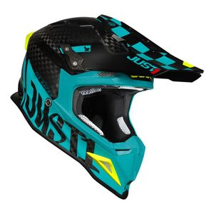 Casque cross J12 PRO RACER BLUE / CARBON MATT 2020 Bleu/Carbon