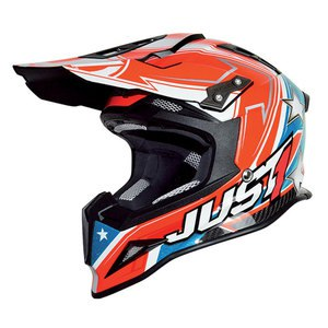 Casque cross J12 - ASTER USA 2017 Rouge