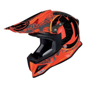 Casque cross J12 - STAMP ROUGE 2017 Rouge Fluo