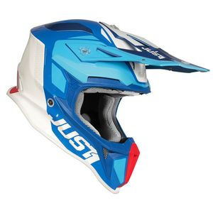 Casque cross J18 PULSAR BLUE / RED / WHITE GLOSS 2020 Blue/Red/White