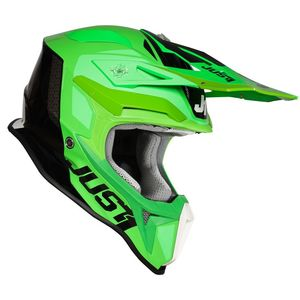 Casque cross J18 PULSAR FLUO GREEN / TITANIUM / BLACK GLOSS 2020 Fluo Green/Titanium/Black