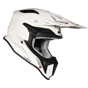 Casque cross J18 SOLID WHITE GLOSS 2020 Blanc