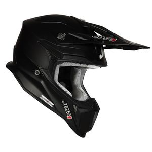 Casque cross J18 SOLID BLACK MATT 2020 Noir
