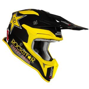 Casque cross J18 ROCKSTAR MATT 2020 Noir/Jaune