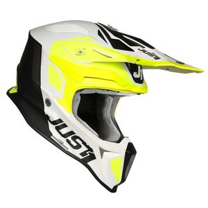 Casque cross J18 PULSAR FLUO YELLOW / WHITE / BLACK MATT 2020 Fluo Yellow/White/Black