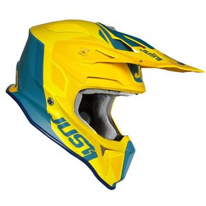 Casque cross J18 PULSAR YELLOW / BLUE MATT 2020 Yellow/Blue