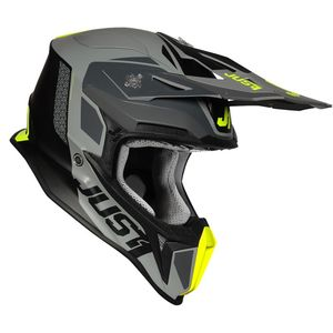 Casque cross J18 PULSAR FLUO YELLOW / GREY / BLACK MATT 2020 Fluo Yellow/Grey/Black Mat