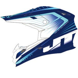 Casque Cross Jt Racing Als-x4 Razor Navy/ice/cyan