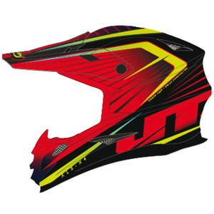 Casque Cross Jt Racing Als-x4 Razor Black/red
