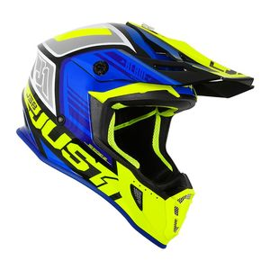Casque cross J38 BLADE BLUE/FLUO YELLOW/BLACK GLOSS 2020 Blue/Fluo Yellow/Black