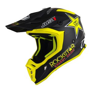 Casque cross J38 ROCKSTAR MATT 2020 Noir/Jaune