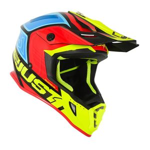 Casque cross J38 BLADE YELLOW/RED/BLUE GLOSS 2020 Yellow/Red/Blue