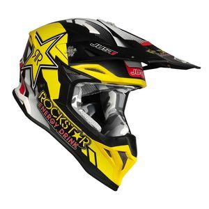 Casque cross J39 ROCKSTAR MATT 2020 Noir/Jaune